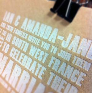 Cairn Almond Board 1000 micron. Letterpress