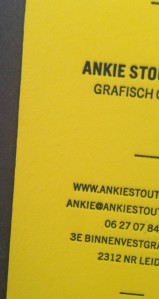 Colorplan Factory Yellow 700 g/m2; 1 kleur boekdruk/letterpress