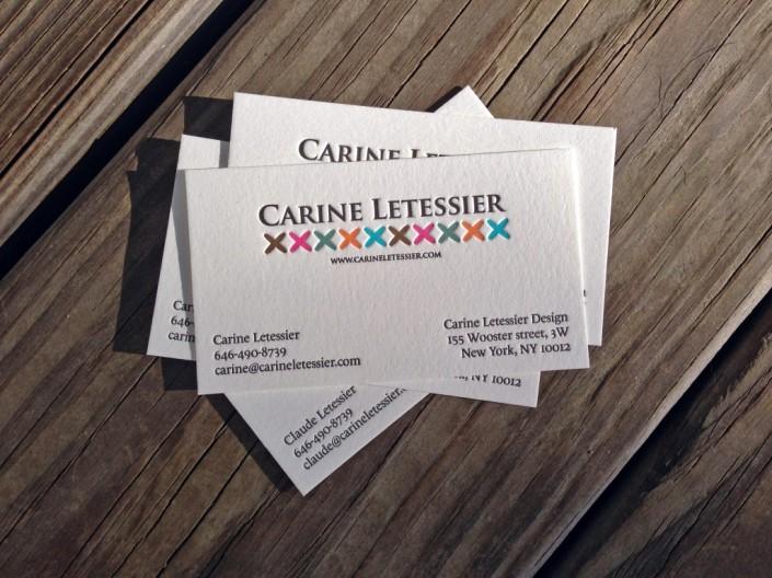 Carne Lettra 6 kleuren letterpress